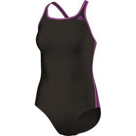 adidas 3 Stripes Suit Women black/shock purple f16